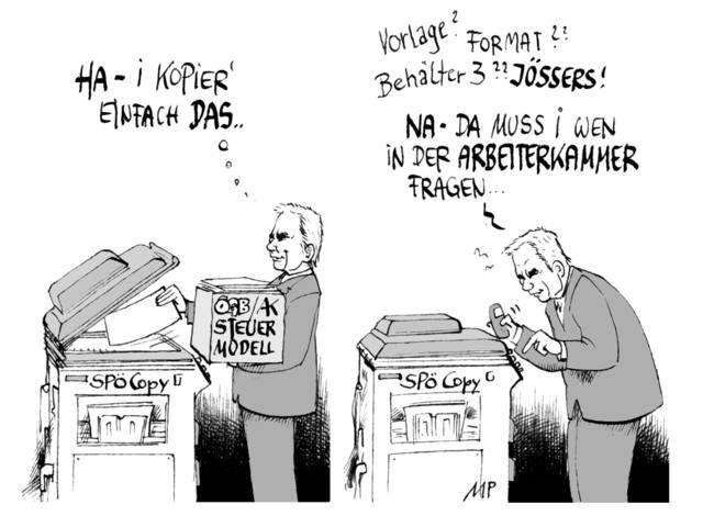 Kanzler-Kompetenz am Kopiergerät (25.09.2014)  Bildcredit: Kurier/Michael Pammesberger