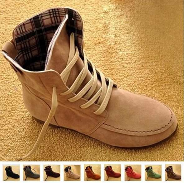 Find More Boots Information about 2014 Causal Martin ankle boots for women Plus size fashion flat Motorcycle Boots Female Suede Leather Lace Up XWX108,High Quality Boots from Chic Shoes Mall on Aliexpress.com