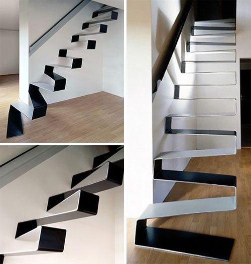 20+ Beautiful Modern Staircases: Interior Design, Ideas, Beautiful Modern, Dream, Staircase Design, Modern Staircases, House, Architecture, Ribbon Stairs