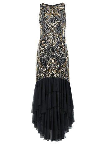 Beaded Fishtail Maxi Dress - Dresses  - Clothing