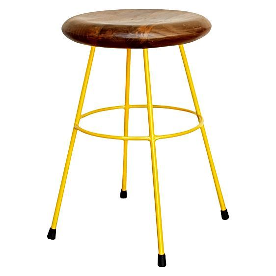 Keep the Ironworx Stool from Soundslike HOME on hand for cool casual seating and a pop of colour.
