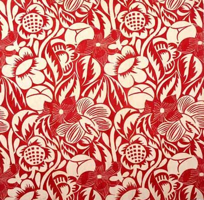 Furnishing fabric. Designed by Raoul Dufy  For Bianchini-Ferier, France. c. 1920  Printed linen