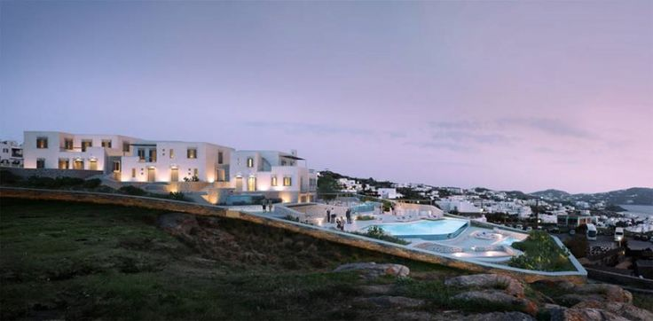 The reconstruction and revival of an abandoned hotel in Chora of Mykonos, creating a new market and promoting the flair of the island.