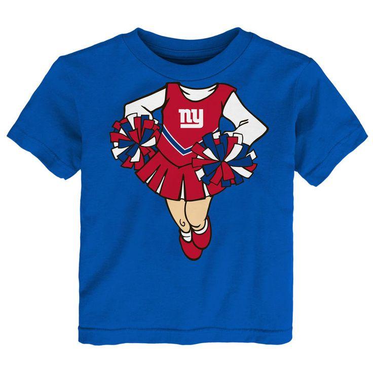 New York Giants Girls Toddler Cheerleader Dreams T-Shirt - Royal