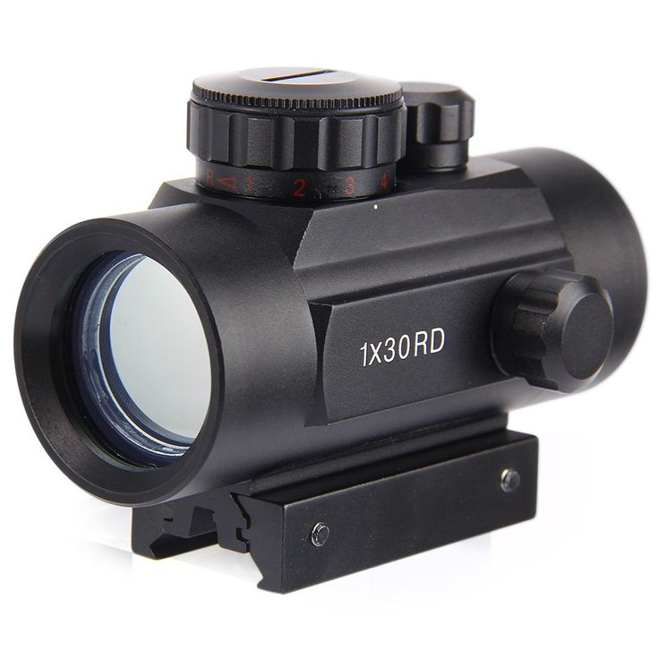10 cm Longitud Táctico Mira Holográfica 1x40mm Cruz Hari Red Dot Sight Telescópica Scope Con 30mm Mount Rail Para Airsoft