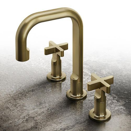Washbasin double-handle mixer tap / free-standing / brass / bathroom INCISO by David Rockwell GESSI SPA