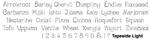Bowfin Printworks - Script Font Identification - Everyday Hand Printed - Type Samples