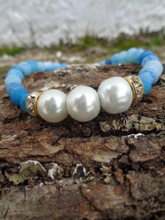 Ice queen OOAK friendship bracelet / Bohemian bracelet / Summer bracelet/ jade beaded bracelet / semiprecious jewelry / Ethnic bracelet