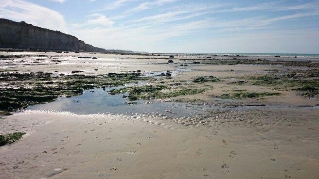 La plage entre Quiberville et St Aubin.