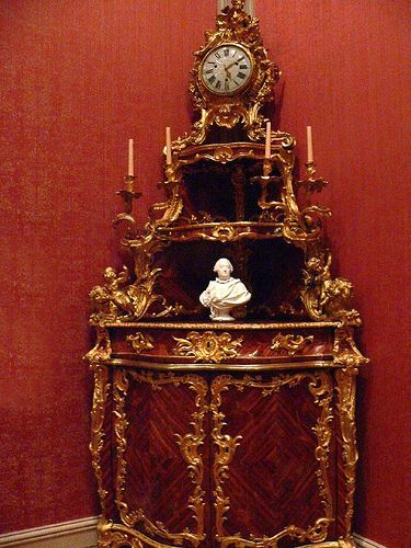 Rococo Clock Cabinet 1