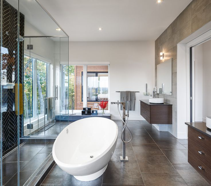 Beautiful MASTER BATH WITH A VIEW. Modern Master Bath Design By Astro Design Centre  In Ottawa Awesome Design