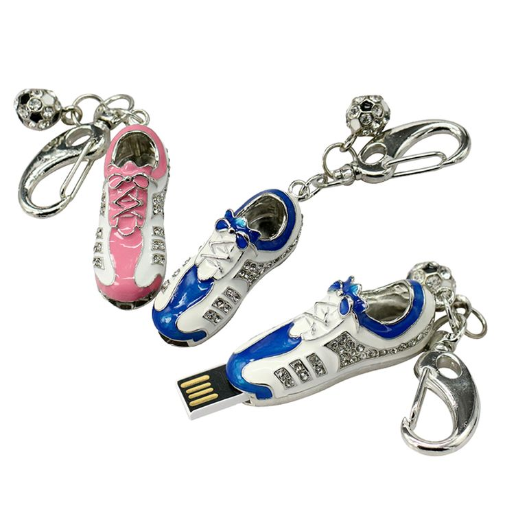 2 красочные кристалла металла футбольные кроссовки ювелирные изделия 4 ГБ 8 ГБ 16 ГБ 32 ГБ 64 ГБ pendrive флэш-накопитель usb флэш-накопитель бесплатная доставка