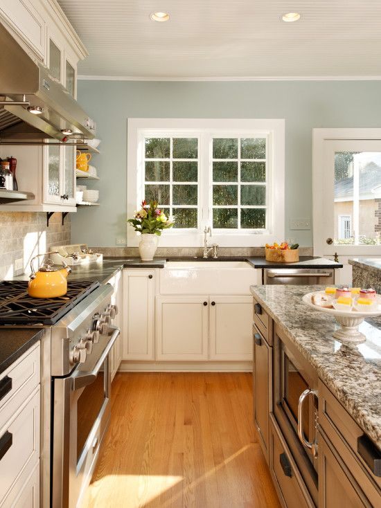 Kitchen Decorating Ideas White Cabinets kitchen blue walls white cabinets best 25+ blue walls kitchen