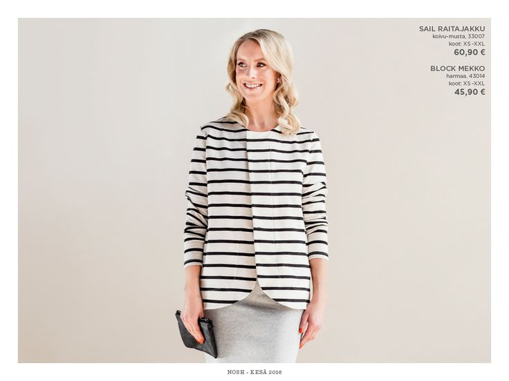 Naisten kesämallisto 2016 on nyt myynnissä! Tee tilaus NOSH vaatekutsuilla tai NOSH edustajalta. Tutustu raikkaaseen mallistoon lookbookissa nosh.fi/lookbookwomen (This collection is available only in Finland. You can shop the organic cotton fabrics of this collection at en.nosh.fi )
