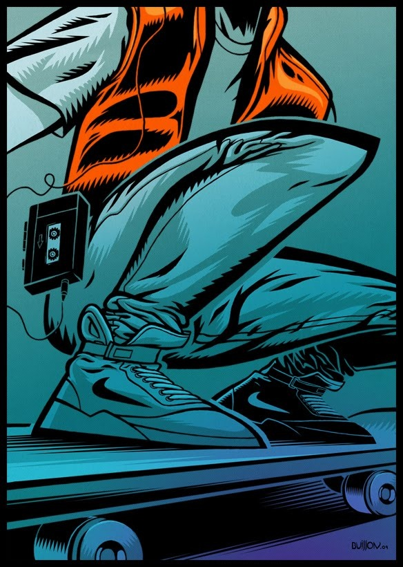 Marty McFly by artist Jonathan Buisson