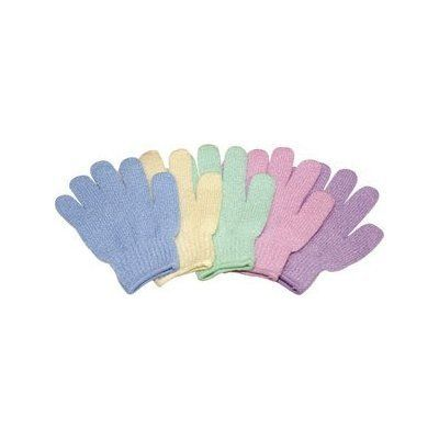 Bath & Shower Exfoliating Gloves (12 Pairs/sa3012x12) by Appearus. $35.00. Spa Quality, Made in Taiwan. 1 pair per package, 12 packages (12 pairs). Provides soft and efficient skin exfoliation. Assorted colors of beige, blue, green, pink, purple and white. Remove dead skin and impurities. Stimulating Blood Circulation. These gloves are specially woven to gently and efficiently exfoliate layers of dead skin and impurities from the body's surface. An integral part of any cleansing ...