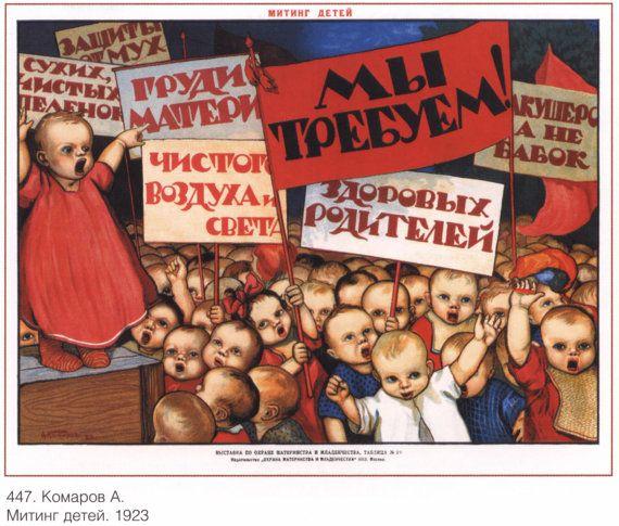 Wall decor Communism Soviet Propaganda poster by SovietPoster