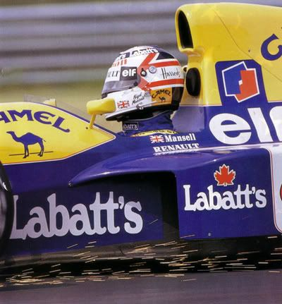 williams fw14b nigel mansell 1992 photo: Montreal 91: Williams Mansell-Montreal-91-.jpg