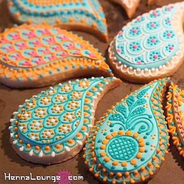 Mehndi Henna Ingredients : Images about paisley mehndi hennamandala cookies on