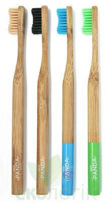 Бамбуковая зубная щетка Eco Panda