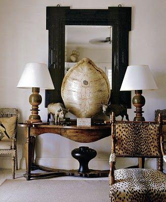 Bunny Williams, Interiors, British Colonial Style, Tortoies Shells, Bunnies Williams, Animal Prints, Vignette, Tortoises Shells, Design