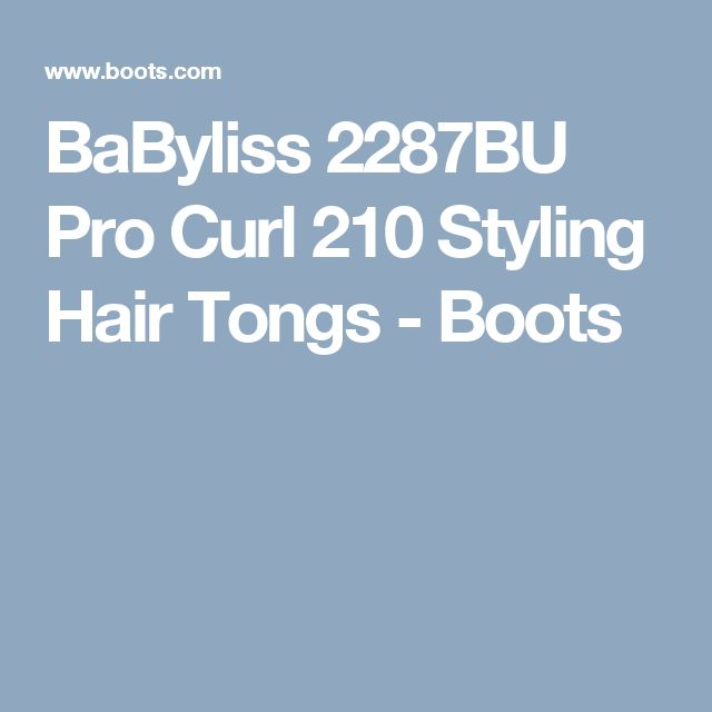 BaByliss 2287BU Pro Curl 210 Styling Hair Tongs - Boots