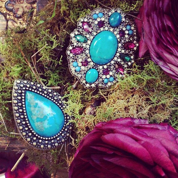 SAMANTHA WILLS - Dawns Dusk; Cobalt Blue Purple Jewellery Jewelry Luxe Statement Blooms