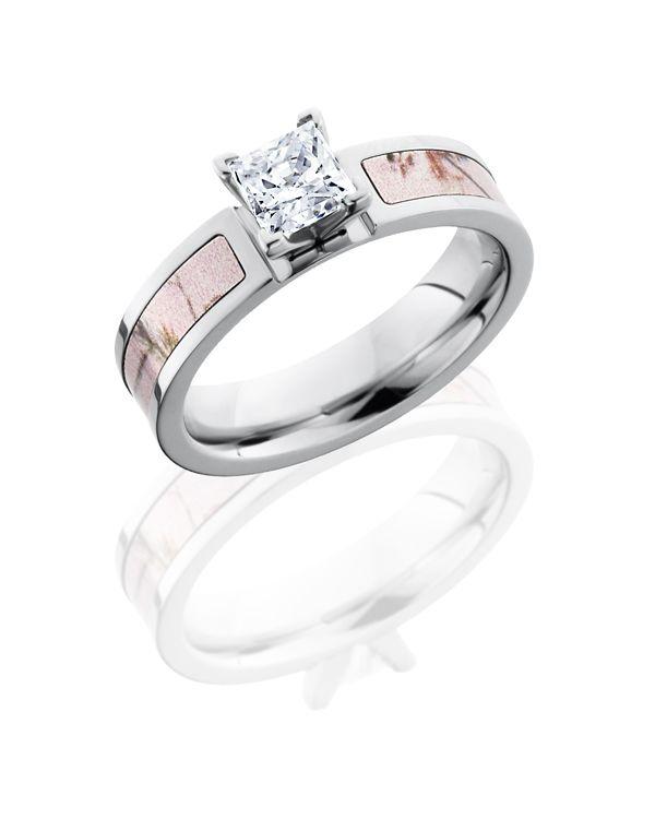 Elegant Lashbrook Pink Camo Engagement Ring