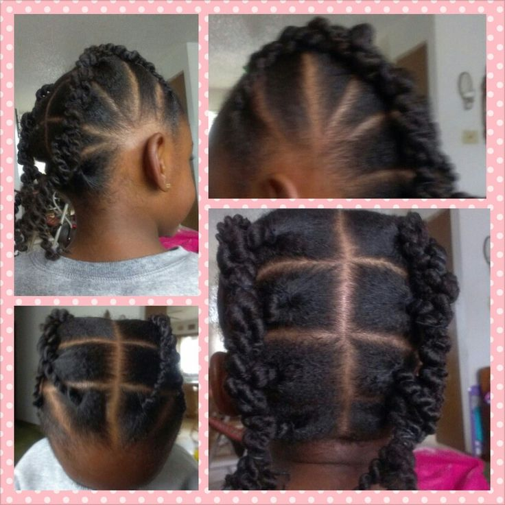 African threading to stretch my my daughter's hair.