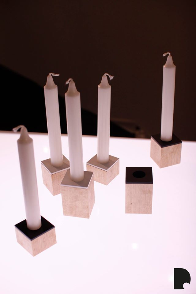Domino. candle holders in Imm Gologne design fair January 2014. www.dsgnsquare.com/domino www.facebook.com/designdomino