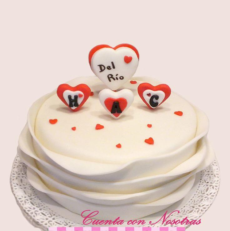 Torta corazones Torta familia