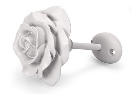 Rose Flower Dove Grey Painted Holdback | Laura Ashley