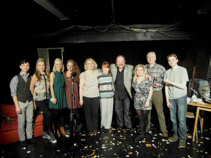 The cast of The Rise and Fall of Little Voice after the final show.
