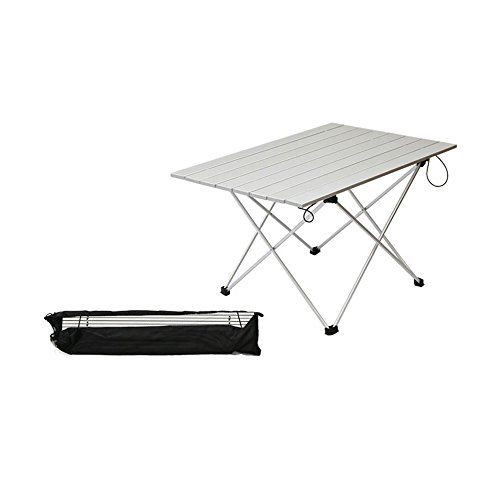 table in a bag. asdomo portable camping tables with aluminum table top, hard-topped folding in a bag for picnic, camp, beach, boat and easy to clean.