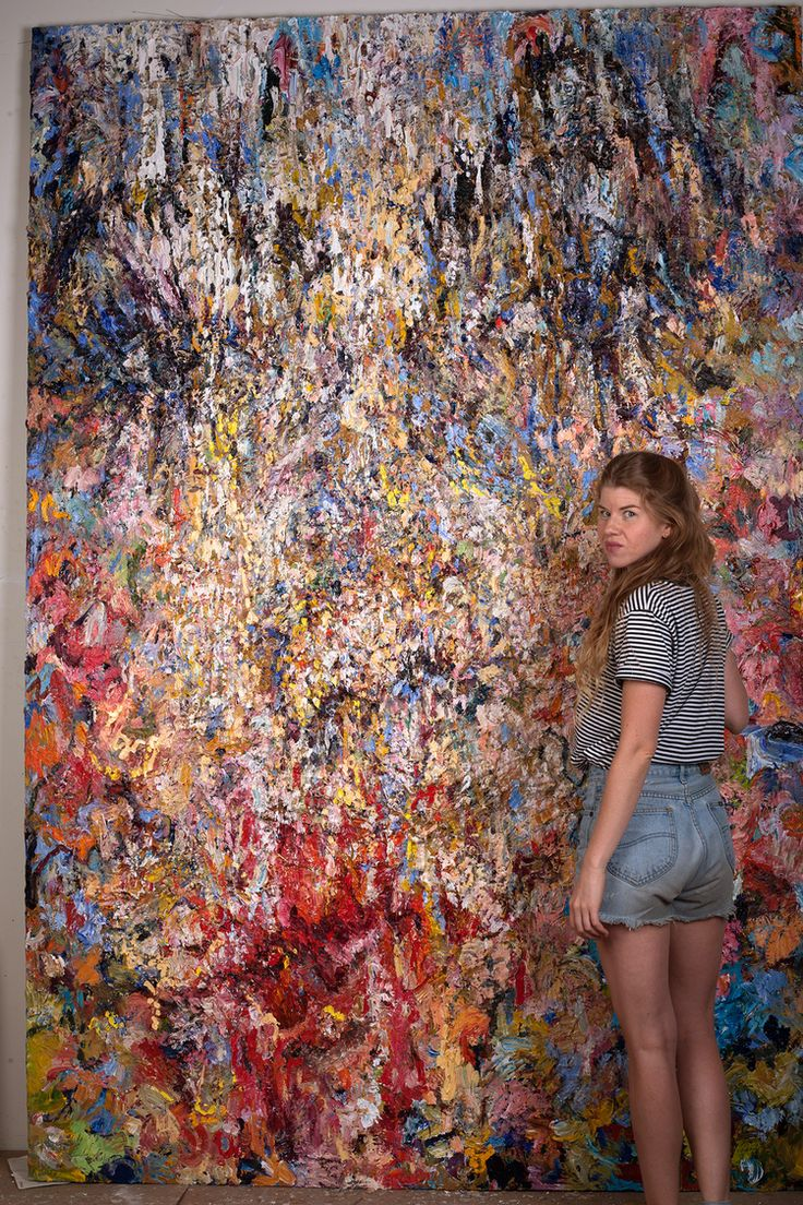 Vanessa Prager in her studio