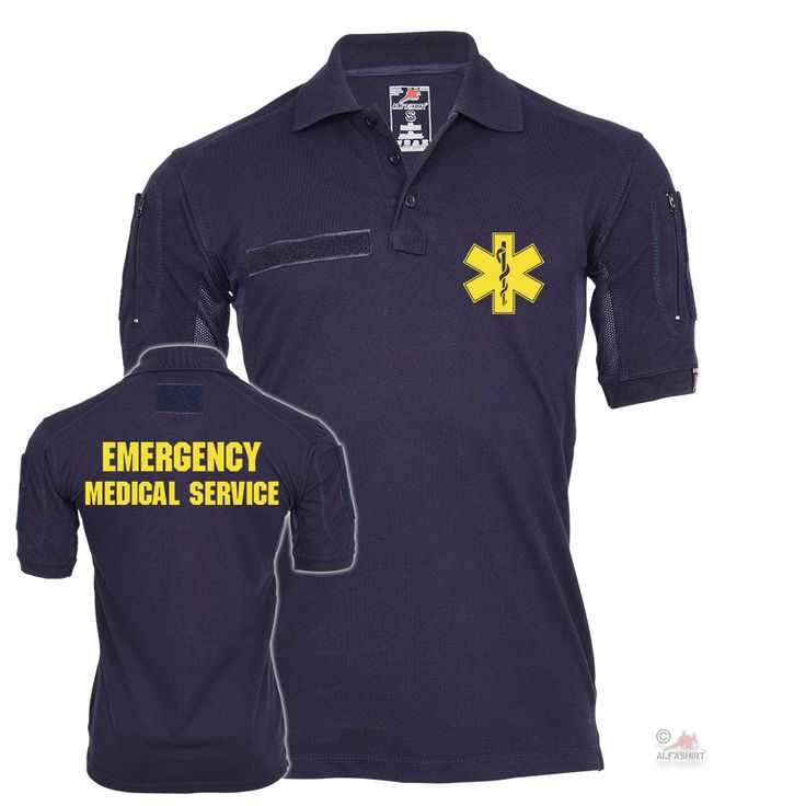 Emergency Medical Service - Tactical Poloshirt Alfa jetzt auf alfashirt.de  #alfashirt#poloshirt#medical#service#emergency#
