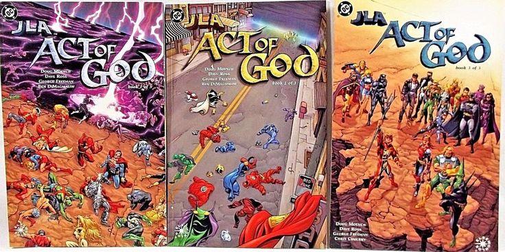 JLA: Act of God 1-3 DC Comics Doug Moench Dave Ross Elseworlds 2000-2001