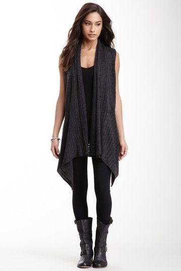 Sleeveless Draped Knit Cardigan by Miilla