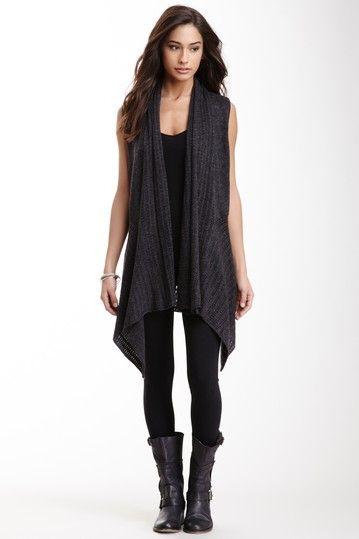 Sleeveless Draped Knit Cardigan by Miilla