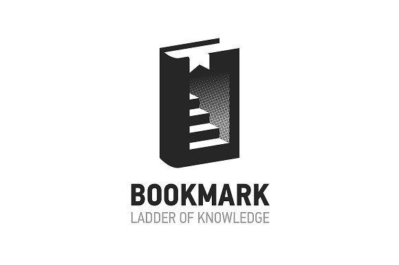 Bookmark logo design, Ladder of Knowledge by satriyoatmojo on @creativemarket