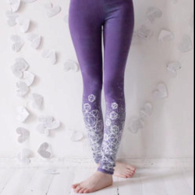 Lilac crystal print leggings on etsy. $50