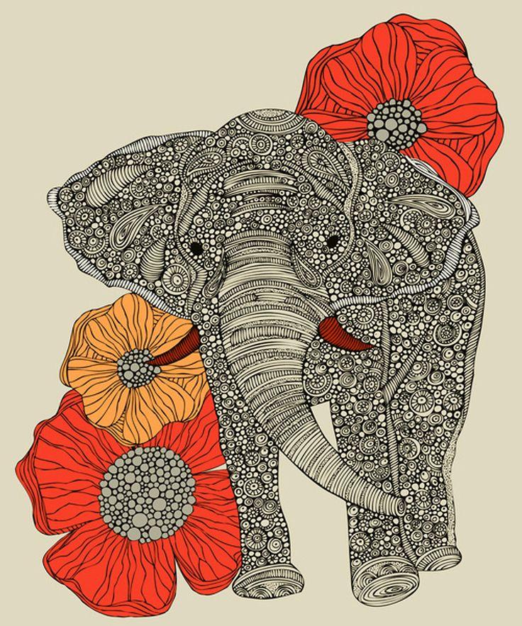 Lucky Elephant Print