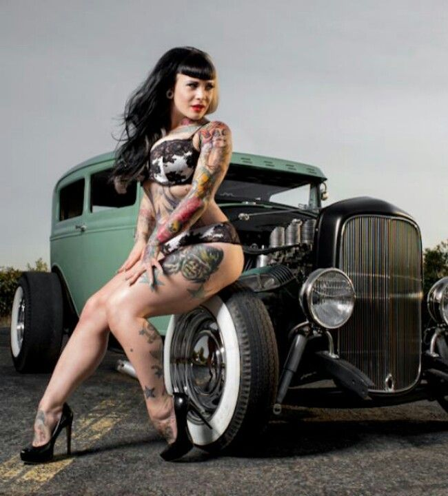 21 Pin Up Hairstyles That Are Hot Right Now: Psychobilly Chicks And Hot Rods
