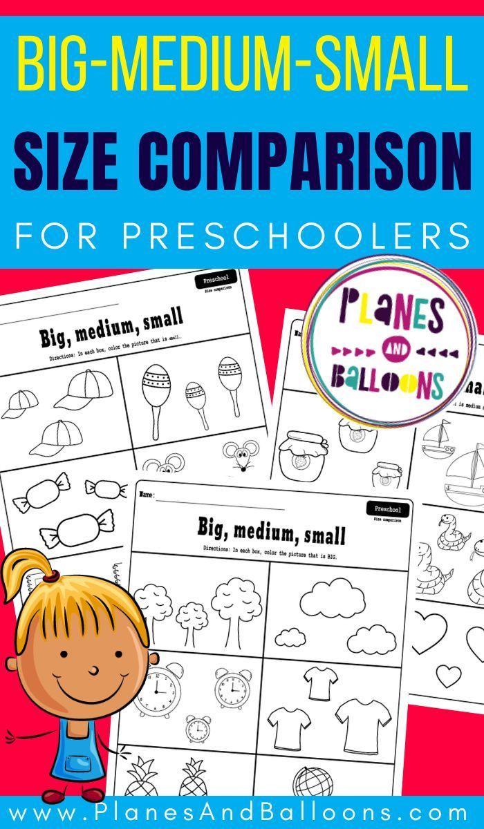 Big Medium Small Preschool Worksheets Free Printable Pdf [ 1200 x 700 Pixel ]