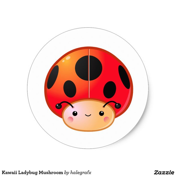 Kawaii Ladybug Mushroom Classic Round Sticker. Producto disponible en tienda Zazzle. Product available in Zazzle store. Regalos, Gifts. Link to product: http://www.zazzle.com/kawaii_ladybug_mushroom_classic_round_sticker-217387824017135125?design.areas=[sticker_round_small_front]&CMPN=shareicon&lang=en&social=true&rf=238167879144476949 #sticker