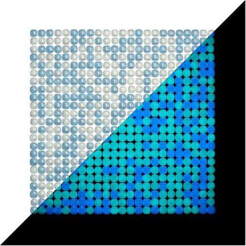 Lacrimae Lucis Mixed Aquamarine/Ocean Blue Mosaic Tile - Glossy (1 sq m box [10 sheets])