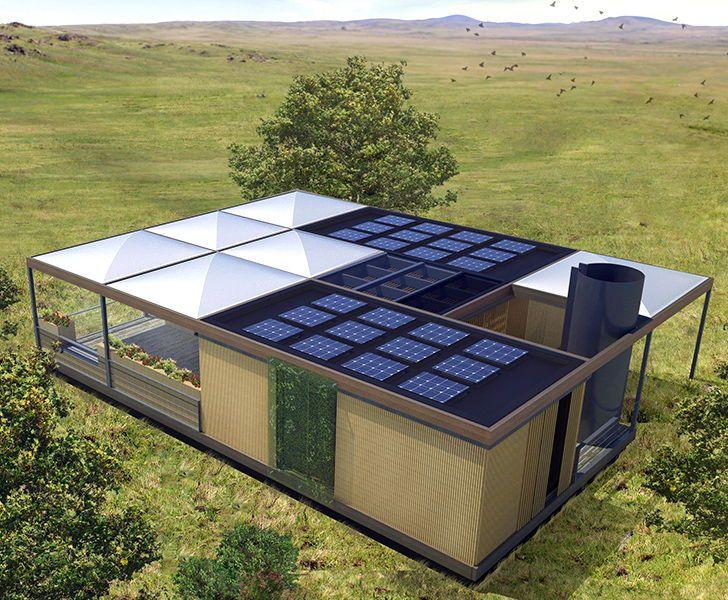 Una casa que genera más energía de la que consume, recoge el agua de lluvia, recicla las aguas grises y cultiva sus propios alimentos gracias a la acuaponía.