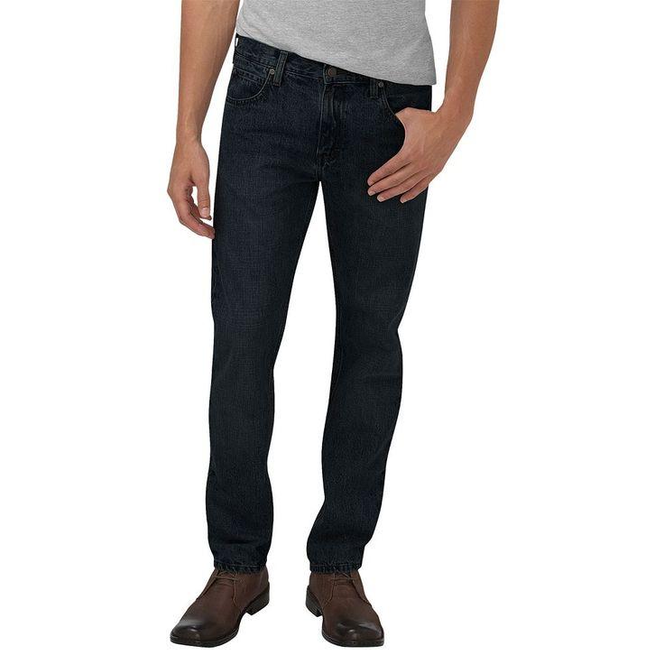 Men's Dickies Slim-Fit Straight-Leg Jeans, Size: 36X32, Black