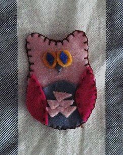 owl ornament - felt