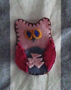 owl ornament - felt